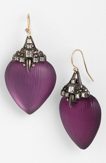 Alexis Bittar 'Lucite - Santa Fe Deco' Small Jewel Capped Drop Earrings