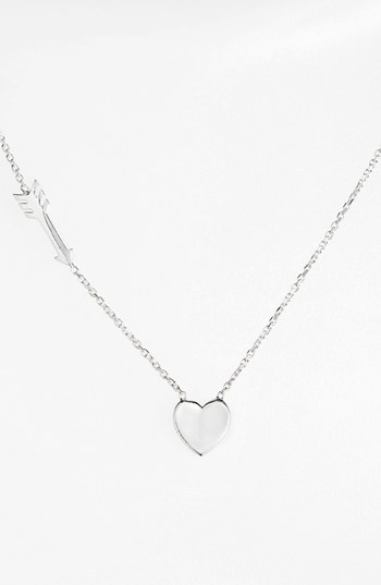 Argento Vivo Heart & Arrow Pendant Necklace