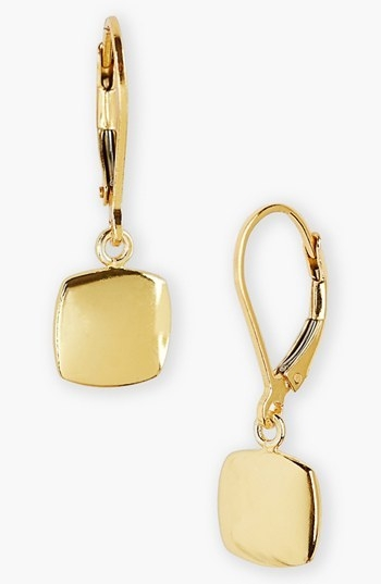 Argento Vivo Square Drop Earrings
