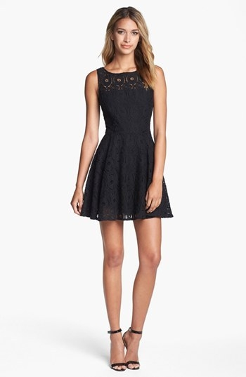 BB Dakota 'Renley' Lace Fit & Flare Dress