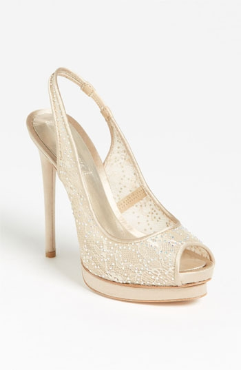 BCBGMAXAZRIA Crystal Lace Pump
