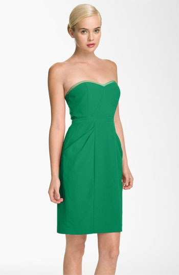 BCBGMAXAZRIA Sweetheart Neckline Crepe Sheath Dress