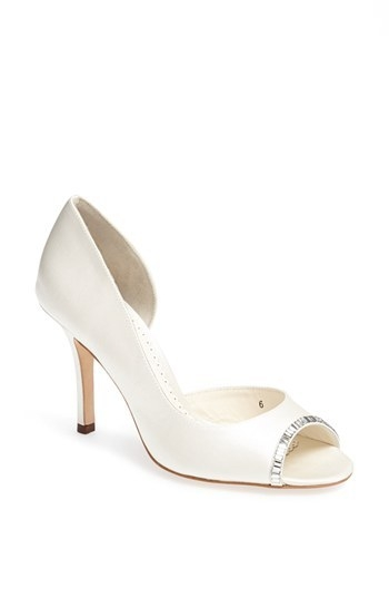 Benjamin Adams London 'Yasmin' Half d'Orsay Silk Duchesse Satin Pump