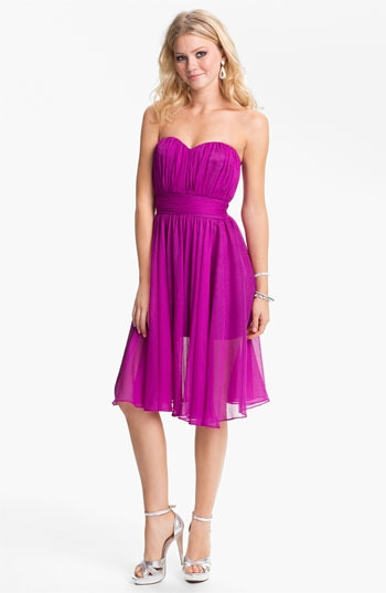 BLAQUE LABEL Sweetheart Chiffon Dress
