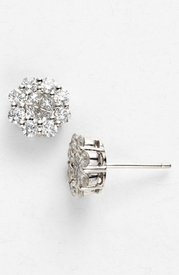 Bony Levy 1.50ct tw Diamond Flower Earrings (Nordstrom Exclusive)