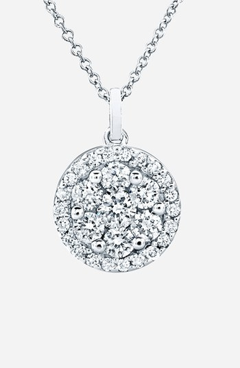 Bony Levy 'Flower' Button Diamond Pendant Necklace (Nordstrom Exclusive)
