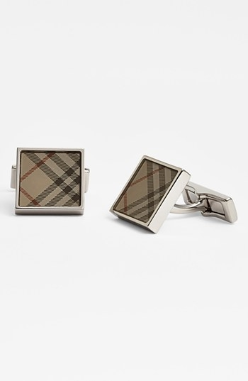 Burberry Square Check Cuff Links