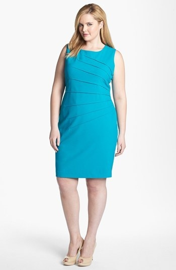 Calvin Klein Sleeveless Sheath Dress (Plus)