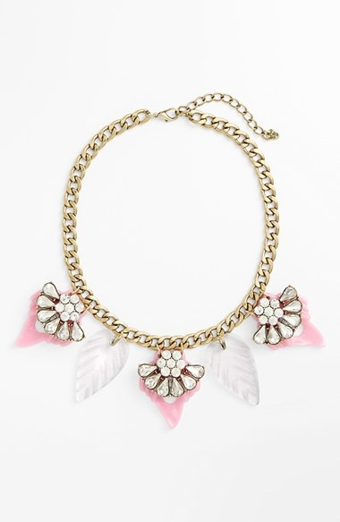 Cara Crystal & Resin Statement Necklace