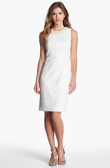 Carmen Marc Valvo Brocade Cocktail Dress