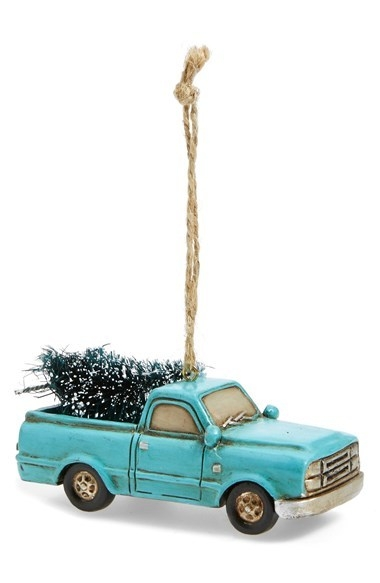 Creative Co-Op Truck Ornament