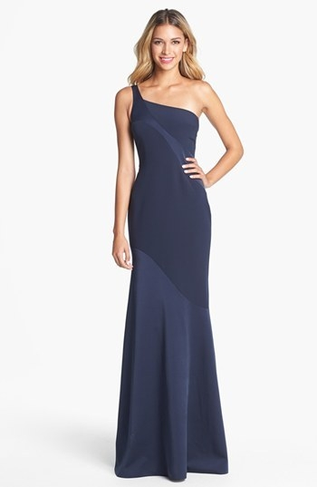 David Meister One Shoulder Gown