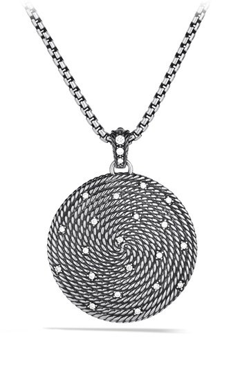 David Yurman 'Cable Coil' Large Pendant with Diamonds