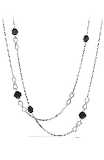 David Yurman 'Confetti' Figure Eight Necklace with Black Onyx