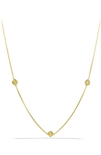 David Yurman 'Infinity' Necklace with Diamonds in Gold