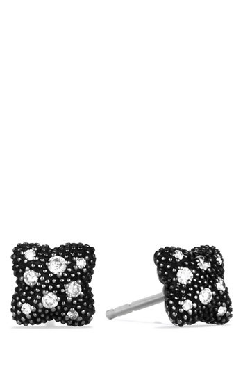 David Yurman 'Midnight Melange - Quatrefoil' Earrings with Diamonds