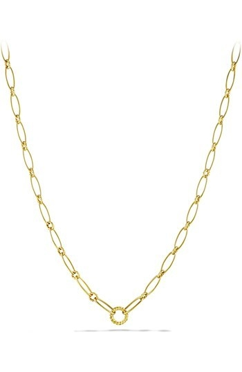 David Yurman 'Oval Link' Necklace in Gold