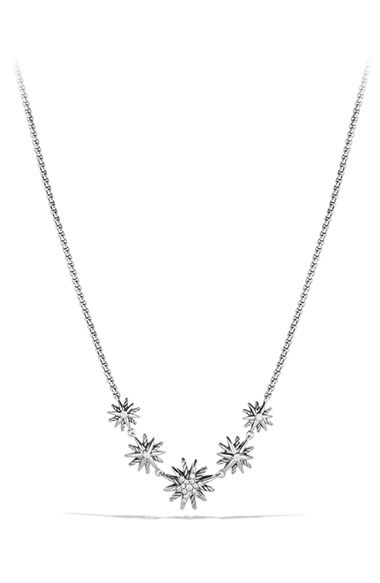 David Yurman 'Starburst' Five-Station Necklace with Diamonds