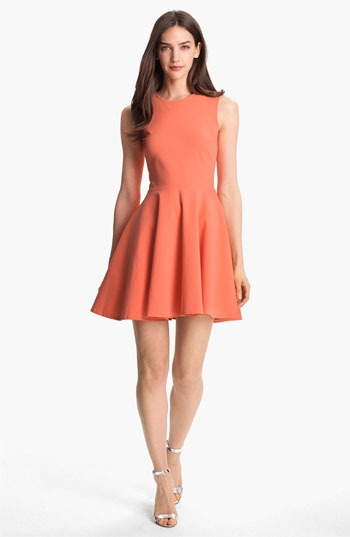 Diane von Furstenberg 'Jeannie' Stretch Fit & Flare Dress