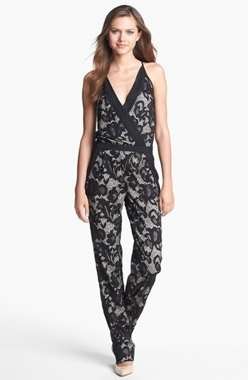 Diane von Furstenberg 'Shany' Abstract Lace Jumpsuit