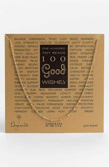 Dogeared '100 Good Wishes' Boxed Necklace