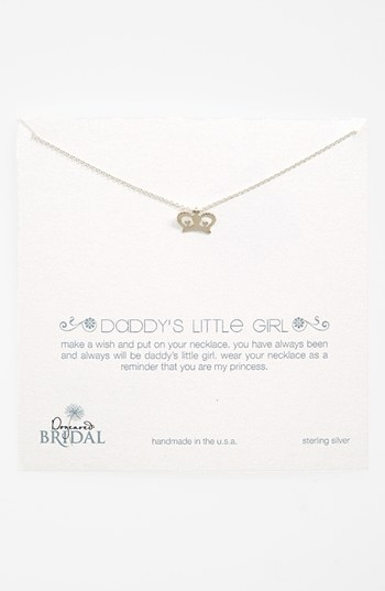 Dogeared 'Daddy's Girl - Crown' Boxed Pendant Necklace (Nordstrom Exclusive)