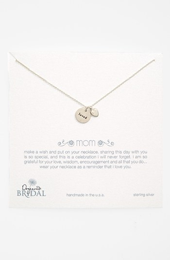 Dogeared 'Mom Loved - Heart' Boxed Pendant Necklace (Nordstrom Exclusive)