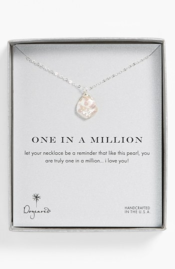 Dogeared 'One in a Million' Keshi Pearl Necklace