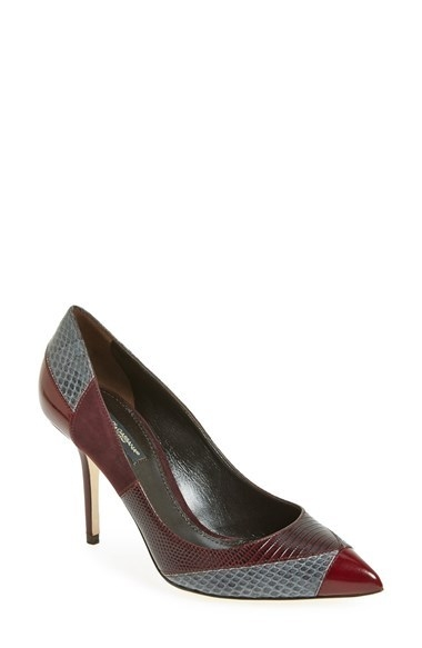 Dolce&Gabbana Colorblock Pointy Toe Pump (Women)