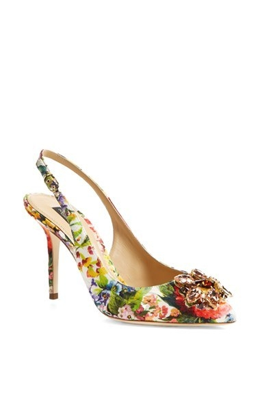 Dolce&Gabbana Jeweled Slingback Pump