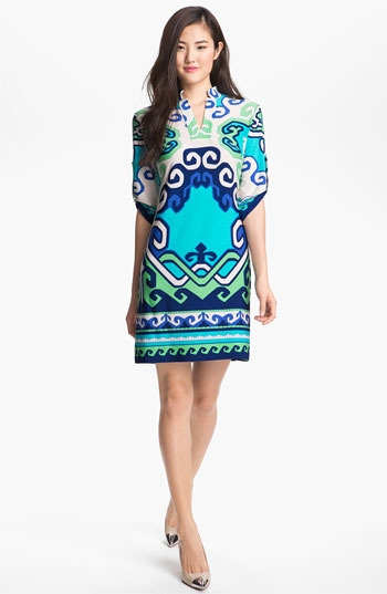 Donna Morgan Print Jersey Shift Dress