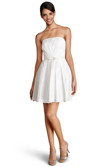 Donna Morgan Strapless Fit & Flare Dress