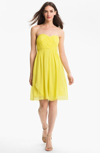 Donna Morgan Sweetheart Chiffon Dress