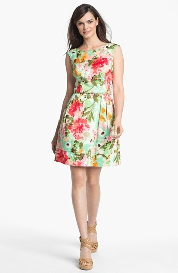 Donna Ricco Floral Print Fit & Flare Dress