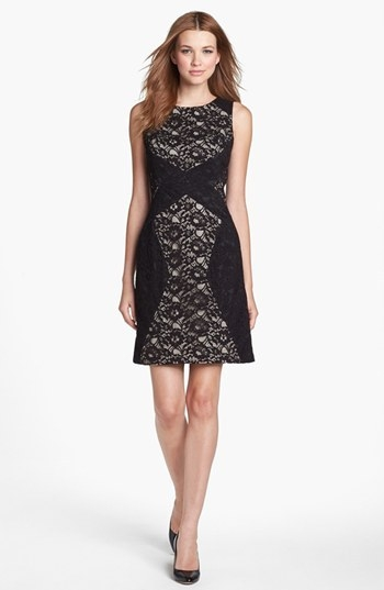 Donna Ricco Sleeveless Lace Sheath Dress