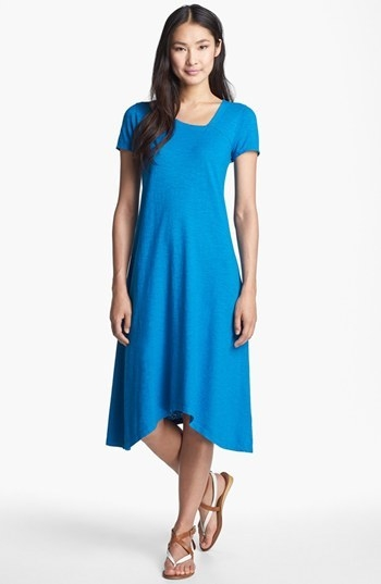 Eileen Fisher V-Neck Organic Cotton & Hemp Dress