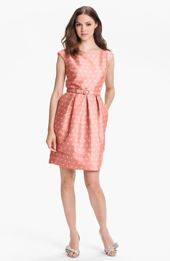 Eliza J Polka Dot Satin Tulip Dress