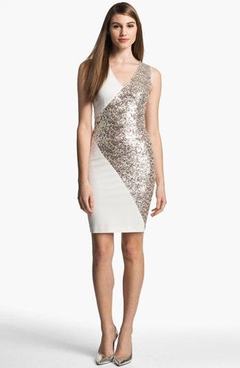 Erin by Erin Fetherston Embellished Ponte Sheath Dress