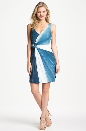 Erin by Erin Fetherston Sleeveless Front Twist Silk Dress