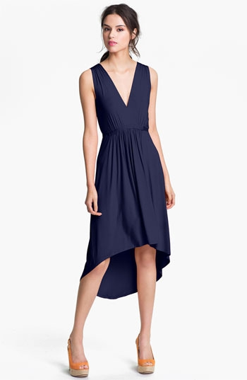 FELICITY & COCO Pleated High/Low Dress