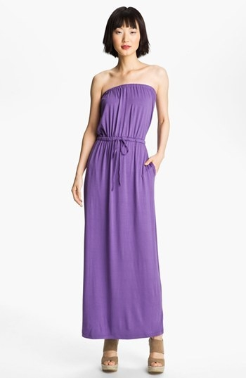 FELICITY & COCO Strapless Jersey Maxi Dress