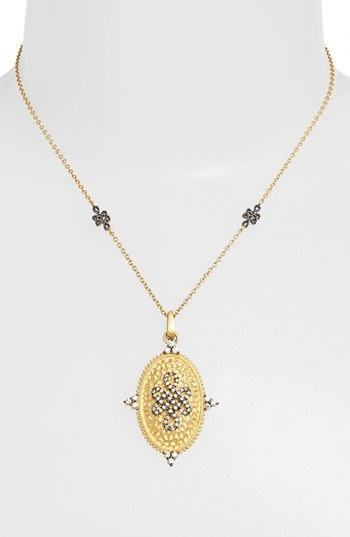 Freida Rothman 'Gramercy' Love Knot Shield Pendant Necklace