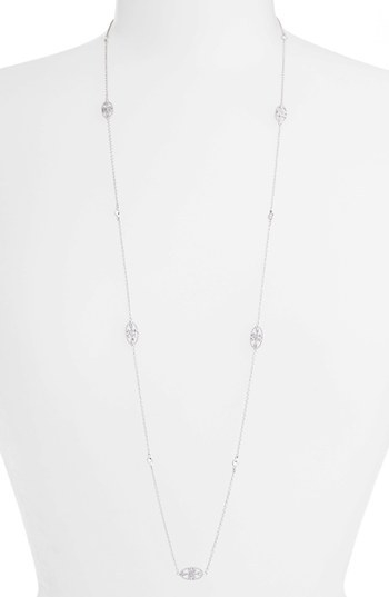 Freida Rothman Long Love Knot Station Necklace