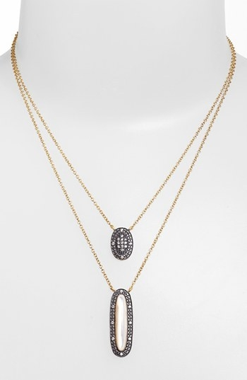 Freida Rothman 'Tribeca' Multistrand Pendant Necklace