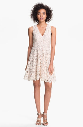 French Connection 'Loving Crochet' Fit & Flare Dress