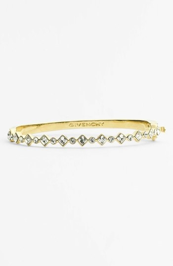 Givenchy Crystal Hinged Bangle