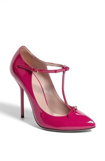 Gucci 'Beverly' T-Strap Pump