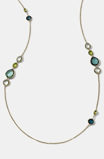 Ippolita 'Rock Candy - Gelato' 18k Gold Long Station Necklace