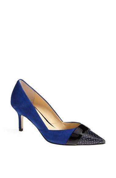 Ivanka Trump 'Nyle' Mixed Media Captoe Pump (Women)
