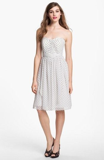 Jenny Yoo 'Kiera' Dot Chiffon Fit & Flare Dress